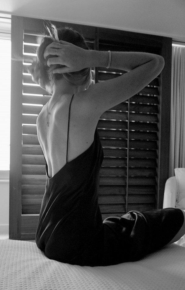 NATALIE CHAPMAN - Model wears the Silk Camisole, shop the top online.